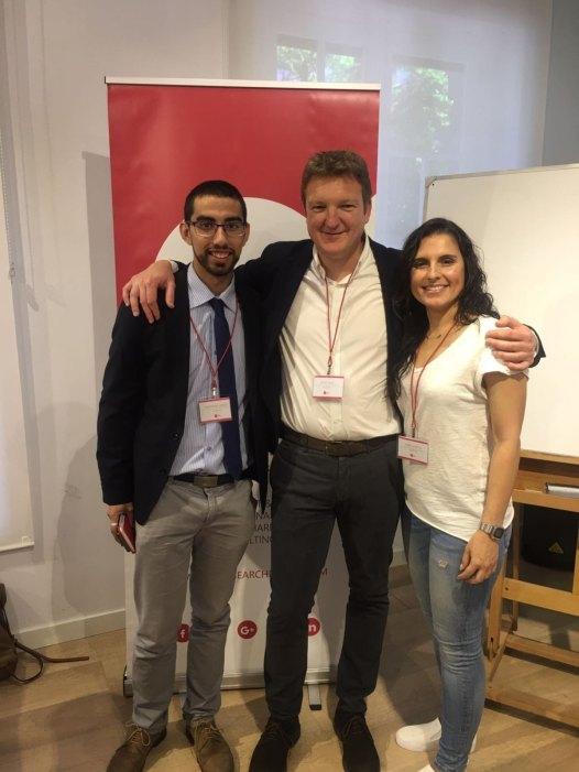 Isabel, Cayetano y David en una foto del evento de Talent Breakfast