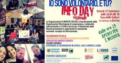 Info Day regionale sul volontariato