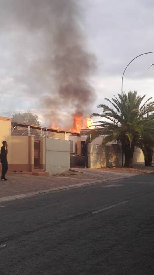 Fire destroys education minister's house