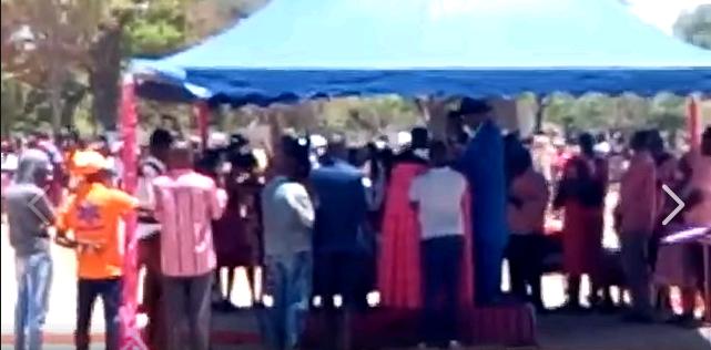 Haleinge crowned as king amid protests