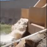 Spectacular scenes at Naute Dam