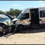 Six people injured in NDF convoy crash