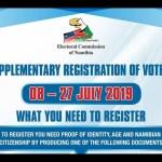 Supplementary voter registration starts today