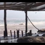 Dramatic scenes as sea floods Tiger Reef
