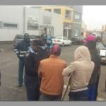 Walvis Bay law enforcement block taxi protest