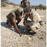 Namibian security officials trained in Explosive Ordnance Disposal