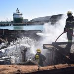 Poor safety measures to blame for fire at salvage site