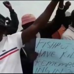 Former fishermen stages protest against bail for Fishrot Six