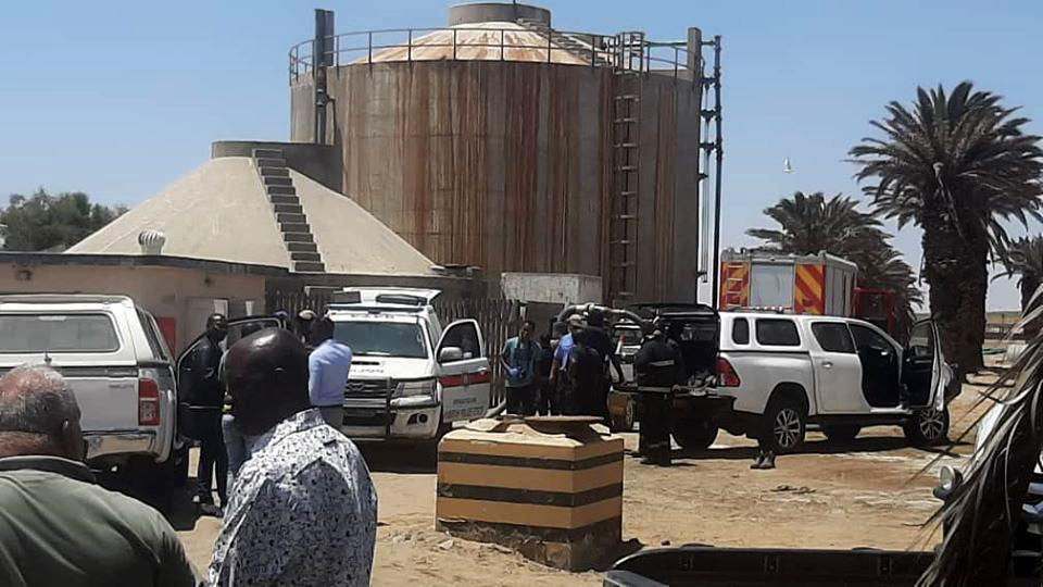 Walvis Bay water works poisonous gas