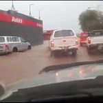 Flood water inundate streets around Namibia