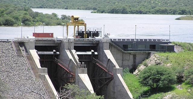 Sluice opening Von Bach Dam