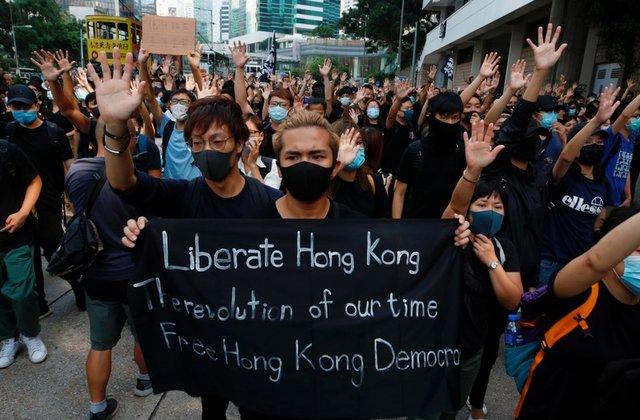 Hong Kong protests June China National People Congress NPC
