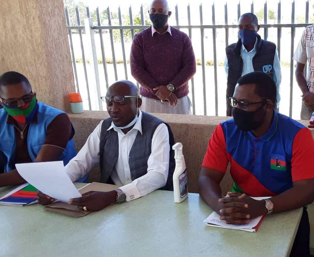ruling party members Oshana Region identify Swapo foot soldiers impromptu press conference Oshakati