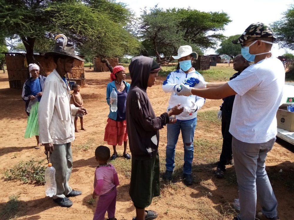 Marginalised community receive soap COVID-19 personal hygiene pandemic