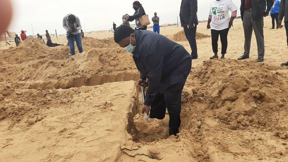 Otweya rising ashes Twaloloka informal settlement project build permanent homes