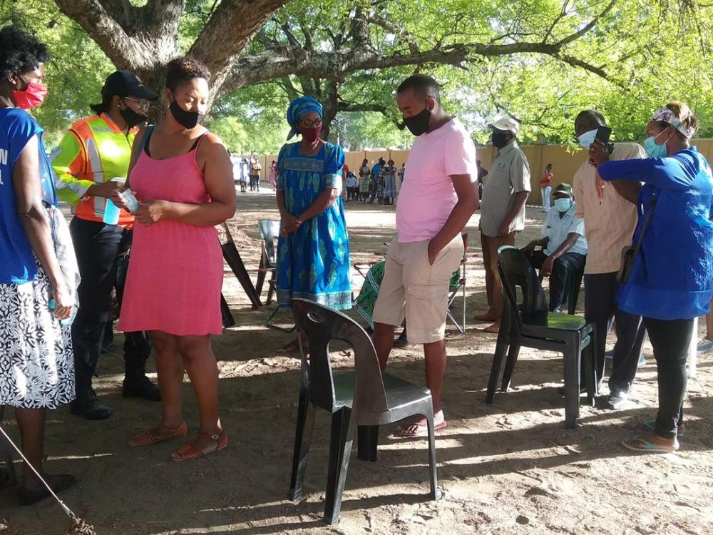 Voting started off smoothly Ongwediva Regional Council Local Authority Namibians