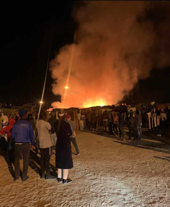 residents backyard shacks burned Tutaleni neighbourhood Kuisebmond Walvis Bay Christmas tents
