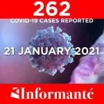 262 COVID-19 cases reported today
