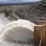 Flood gates opened at Naute Dam
