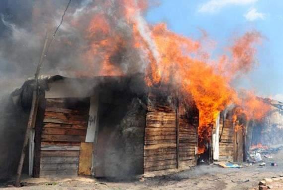 Shack fire Otto Benjamin Goseb Swakopmund Municipality sleeping burned