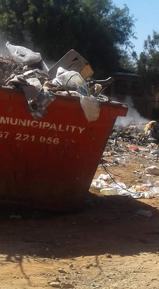 Tsumeb residents garbage pile-up town Tsumeb clean