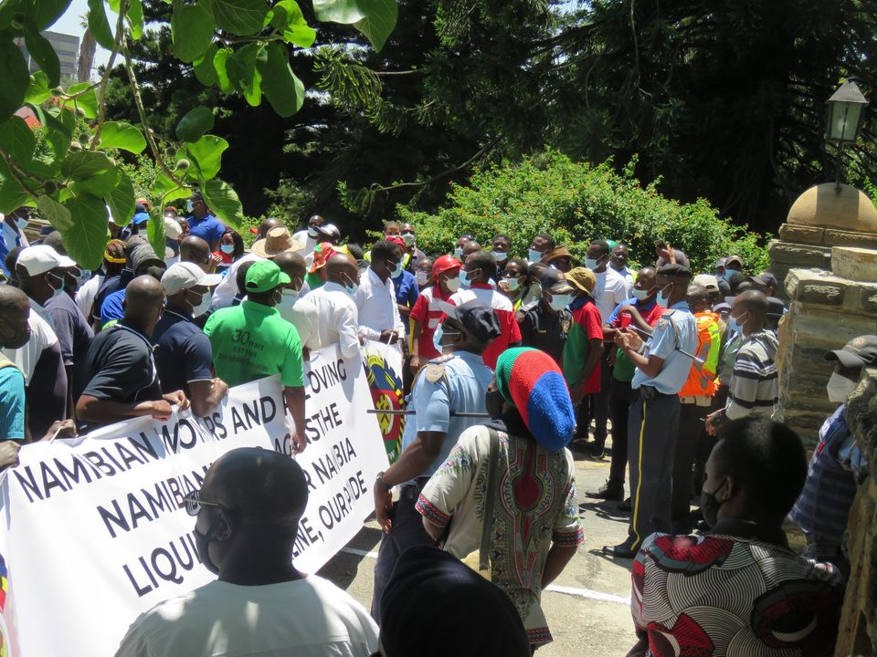Aggrieved Air Namibia workers petition government desperate liquidation employees unions SWAPO party