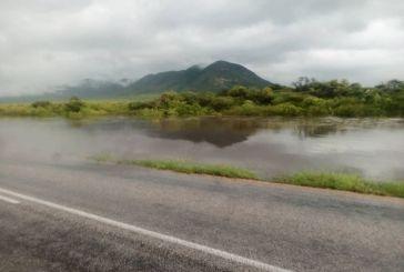Heavy rain cause road closure