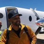 Will Smith arrives in Namibia