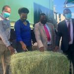 Bales of hay donated to OPM