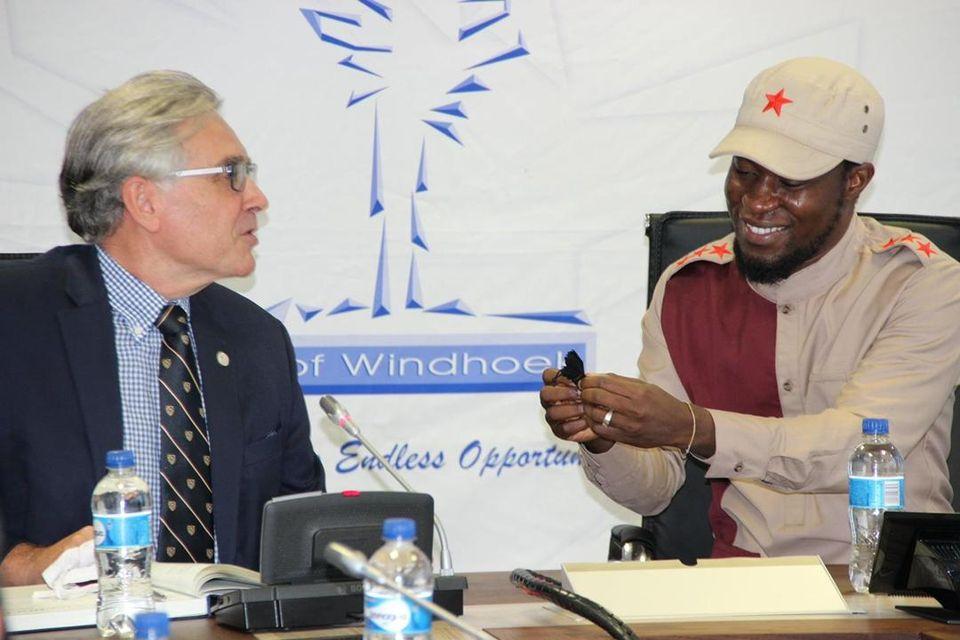 Professor courtesy CoW City Windhoek Professor Wim de Villiers Vice-Chancellor University Stellenbosch Mayor Windhoek Job Amupanda