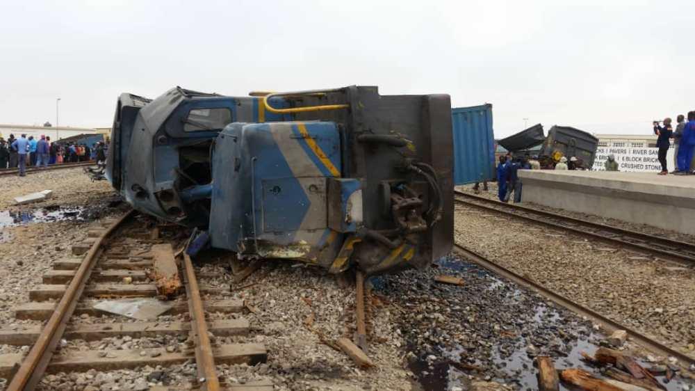 Train derails Swakopmund railway station derailed