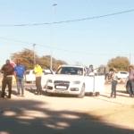 Man who shot himself at roadblock dies in hospital