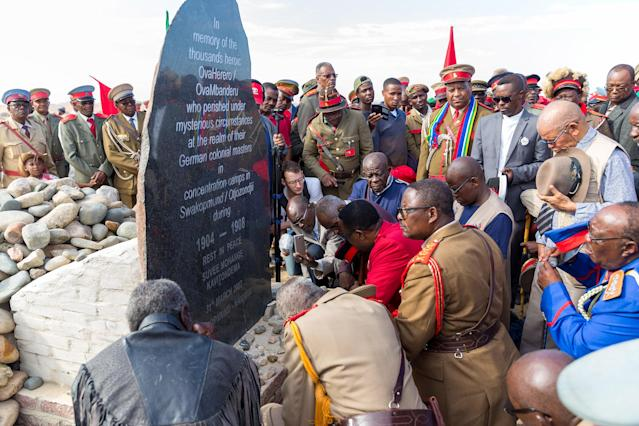 Ovaherero chiefs reparation payment halt Ovambanderu President Hage Geingob Nama Ovaherero Genocide speak communities