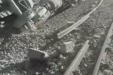 Derailed train causes chemical hazard