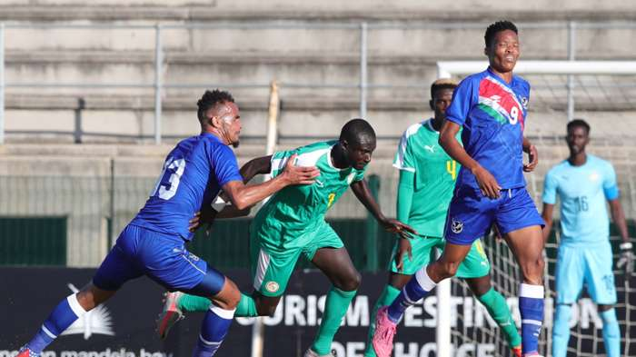 Brave Warriors Namibia national team Senegal Group B qualifying match Cosafa Cup