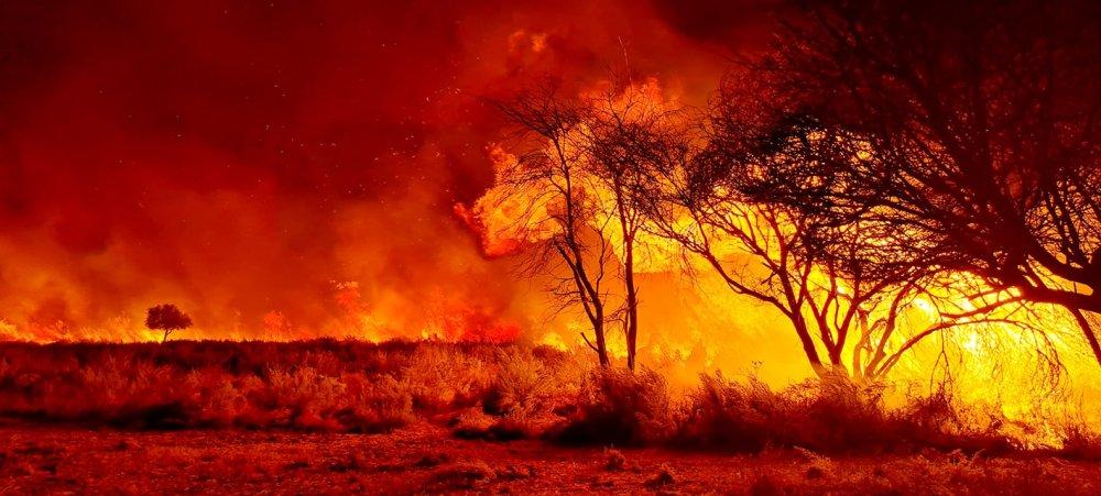 Farmworker dies fighting Vepounongo Katjimune Maherero farm worker Farm Nugubias Outjo death bushfire