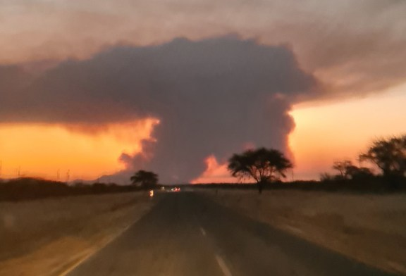 Fires raging again all over Namibia