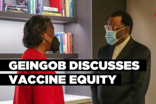 Geingob discusses vaccine equity