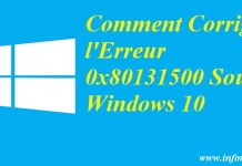 0x80131500 Sous Windows 10