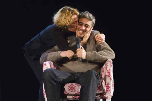 Pif e la sorella Manuela Diliberto - Photo credit Carmine Colurcio