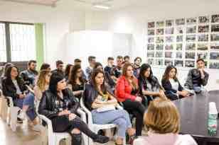 Liceo Scientifico Galileo Galilei di Cancello Arnone in visita nella redazione di Informare -Photo credit Gabriele Arenare