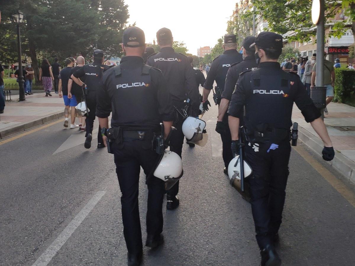 La Policías Nacional se despliega en Alcorcón, Madrid