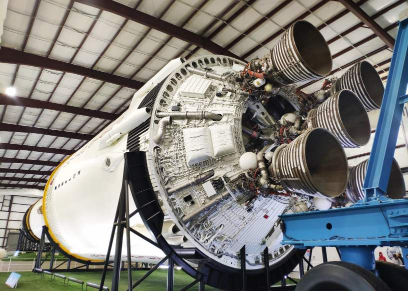 Saturn V en el Centro Espacial Lyndon B. Johnson