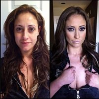 Fotos - La magia del cine triple X: así se ven 15 actrices porno con y sin maquillaje