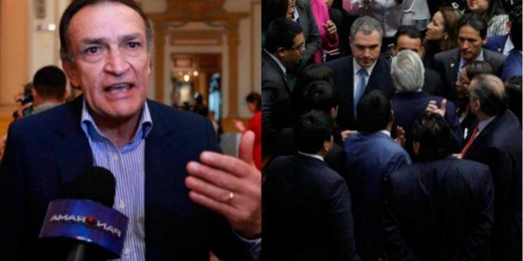 Becerril denunció que Salvador del Solar y ministros casi lo botan a patadas del Congreso