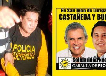 Exalcalde San Juan de Lurigancho, fue capturado por la policía en un hotel en Los Olivos