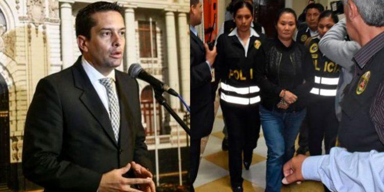 """Miguel Torres considera que enmarrocar a Keiko Fujimori durante traslado """"fue excesivo"""""""