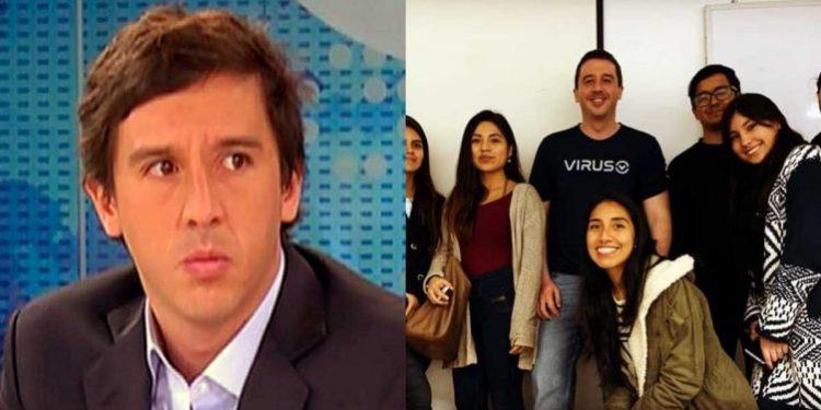 Mijael Garrido Lecca da clase de técnicas de entrevista y periodismo de conversación