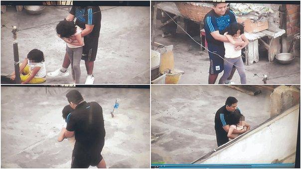 Atrapan a sujeto captado por cámaras de seguridad cuando tocaba a sobrinas