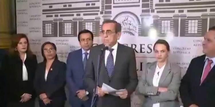 Cinco bancadas acordaron dar el voto de confianza planteado por el Ejecutivo